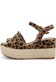 Sandália Connect Shoes Jacquard Onça