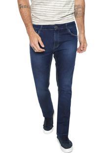 Calça Jeans Mr Kitsch Reta Estonada Azul