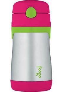 Garrafa Térmica Infantil Foogo 290Ml - Feminino-Rosa Escuro+Verde Limão
