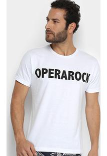 Camiseta Opera Rock Institucional Masculina - Masculino-Branco