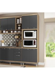 Armário De Cozinha Para Forno 4 Portas 5120 Premium Argila/Grafite - Multimóveis