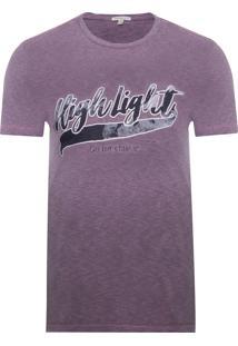 Camiseta Masculina Degrade High Light - Roxo E Rosa