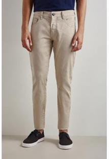 Calça Pf Skinny Reserva Color Inv 19 Masculina - Masculino-Bege