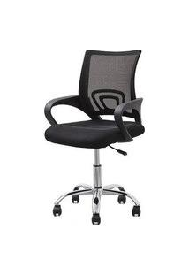 Cadeira Office Lima Preta Base Cromada 98Cm - 62968 Sun House
