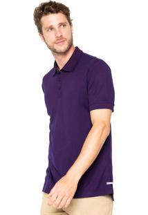 Camisa Polo Handbook Slim Roxa