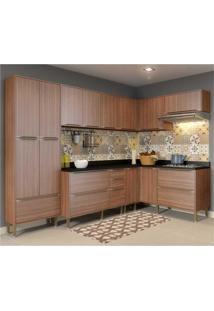 Cozinha Completa Multimóveis Com 8 Peças Calábria 5462 Nogueira