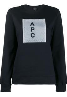 A.P.C. Moletom Com Logo - Azul