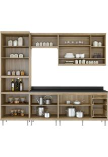 Cozinha Compacta Multimóveis Sicília 5809.132.131.610 Argila Branco Se