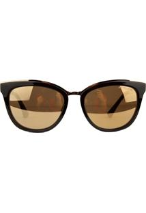 Óculos De Sol Atitude At5354 T01/53 Preto/Dourado - Kanui