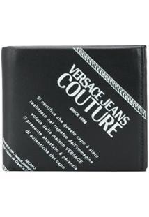 Versace Jeans Couture Carteira Dobrável Com Estampa De Logo - Preto