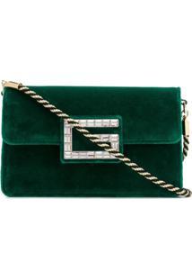 Gucci Bolsa Tiracolo 'Square G' De Veludo - Verde