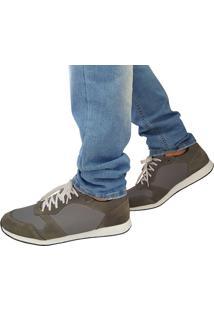Sapatênis Proence Em Couro Skate High Cinza