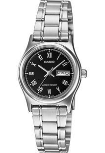 Relógio Casio Ltp-V006D-1Budf Prata - Kanui