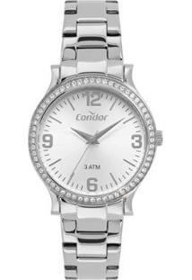 Relógio Condor Eterna Feminino - Feminino-Prata
