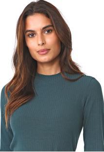 Blusa MarialãCia Canelada Verde - Verde - Feminino - Viscose - Dafiti