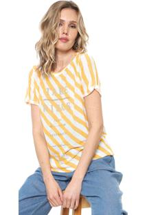 Camiseta Forum Listras Amarela