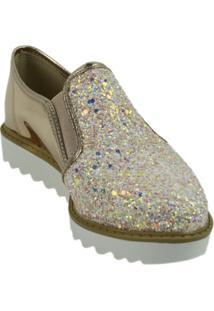 Oxford Glitter Molekinha - Feminino-Rose Gold