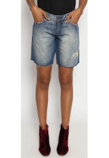Bermuda Jeans Com PuãDos - Azulcalvin Klein