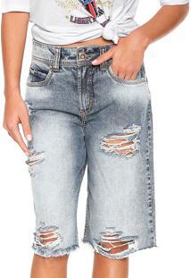 Bermuda Jeans Colcci Daniela Azul