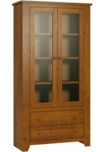 Estante De Madeira Finestra Rubi 8971T 2 Portas Com Vidro Imbuia