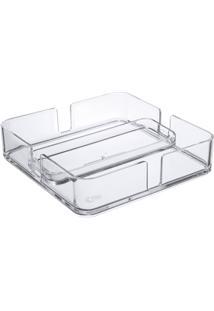 Porta Guardanapos Mod 18,9 X 18,9 X 4,7 Cm Cristal Coza