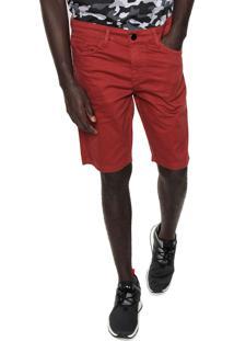 Bermuda Sarja New Era Core Ne Firt Class Vermelha