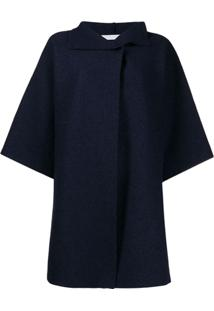 Harris Wharf London Casaco Oversized Com Mangas Largas - Azul