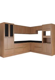 Cozinha Compacta Calábria 15 Peças Nogueira Multimóveis