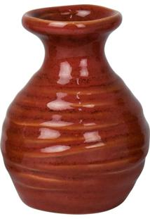 Vaso Makari Vermelho Em Cerâmica Kasa Ideia