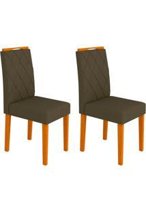Conjunto Com 2 Cadeiras Isabela I Ipê E Marrom