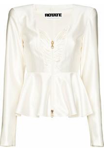 Rotate Blusa Peplum Annie - Branco