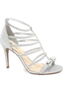 Sandália Zariff Shoes Noiva Glitter Prata