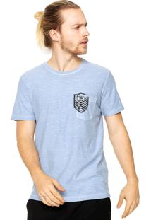 Camiseta Osklen Bolso Azul