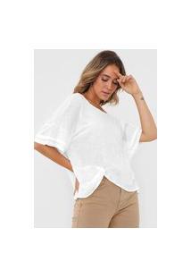 Blusa Linho Open Style Torção Off-White