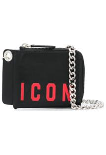 Dsquared2 Carteira Icon Com Corrente - Preto