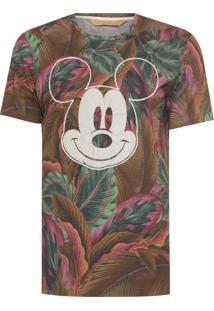 Blusa Masculina Mickey Flamingo - Verde