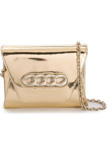 Casadei Clutch Envelope Metalizada - Dourado