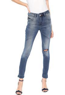 a9d8aa74a R$ 69,99. Dafiti Calça Sarja Uber Jeans Skinny Destroyed Azul