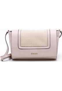 Bolsa Shoulder Bag Couro Amêndoa - M