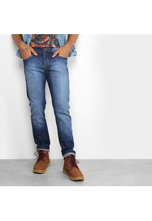 Calça Jeans Skinny Redley Stone Escura Masculina - Masculino-Jeans