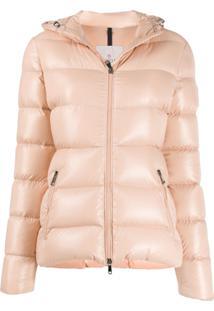 Moncler Zip-Front Puffer Jacket - Rosa