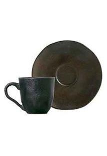Xícaras Para Café Orgânico Copper Em Stoneware Com 06 Peças - Porto Brasil Cerâmica