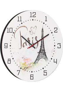 Relógio De Parede Paris Branco