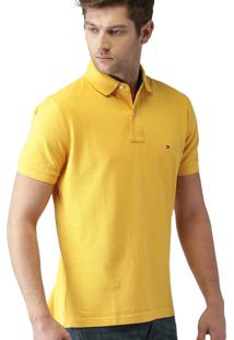 Polo Tommy Hilfiger Slim Fit Stretch Yellow