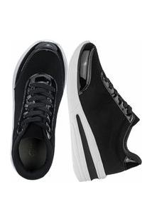 Tênis Sneaker Gigil Anabela Preto