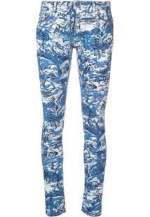 Off-White Calça Jeans Estampada Skinny - Azul
