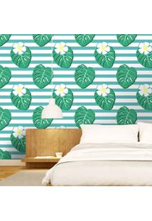 Papel De Parede Tropical Leaves