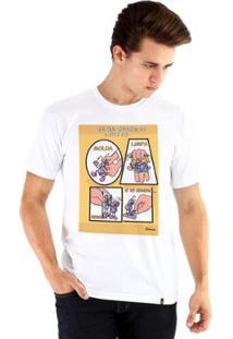 Camiseta Ouroboros Manga Curta Encontro Com Deus - Masculino-Branco