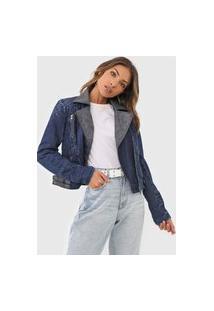 Jaqueta Jeans Desigual Denis Azul-Marinho
