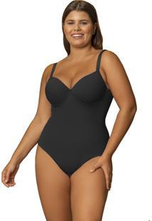Body Modelador Shanty Com Bojo Plus Size Preto